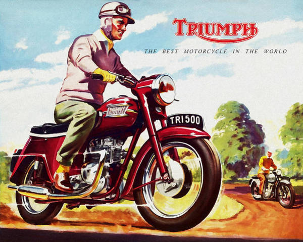 Thunderbird Wall Art - Photograph - Triumph 1958 by Mark Rogan
