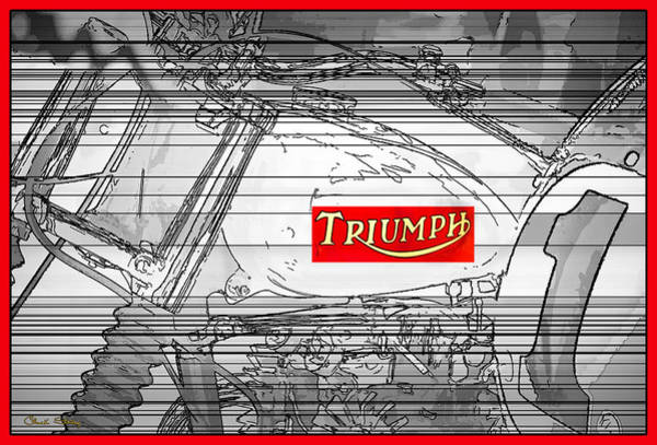 Photograph - Triumph B W by Chuck Staley