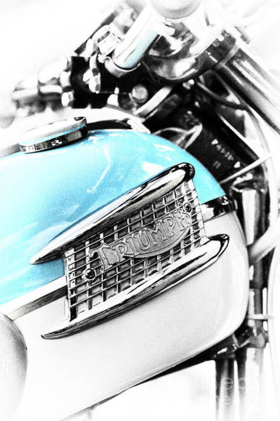 Photograph - Triumph Blue Monochrome by Tim Gainey