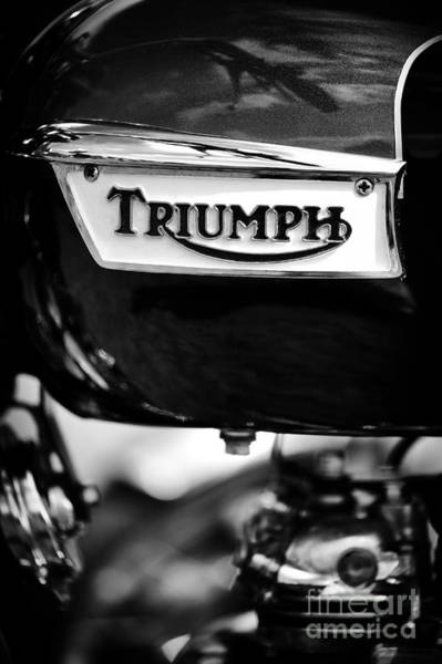Photograph - Triumph Bonneville Monochrome by Tim Gainey