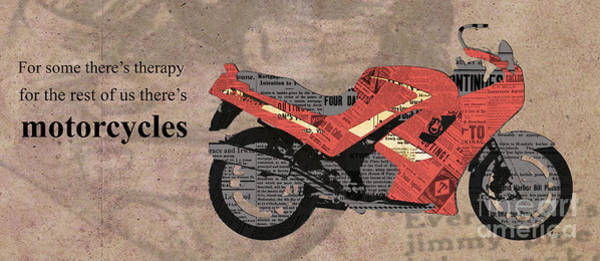 Fineartamerica Wall Art - Mixed Media - Triumph Daytona 1000 1992 Collage - Motorcycles Quote by Drawspots Illustrations