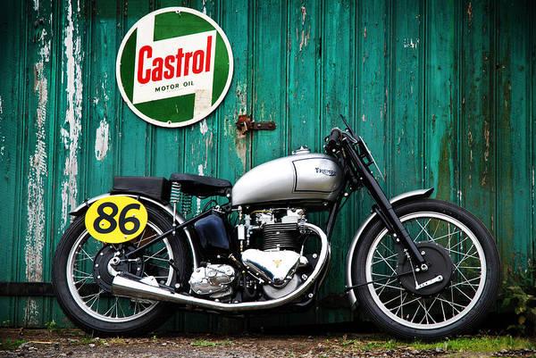 Triumph Motorcycle Wall Art - Photograph - Triumph Grand Prix 1949 by Mark Rogan