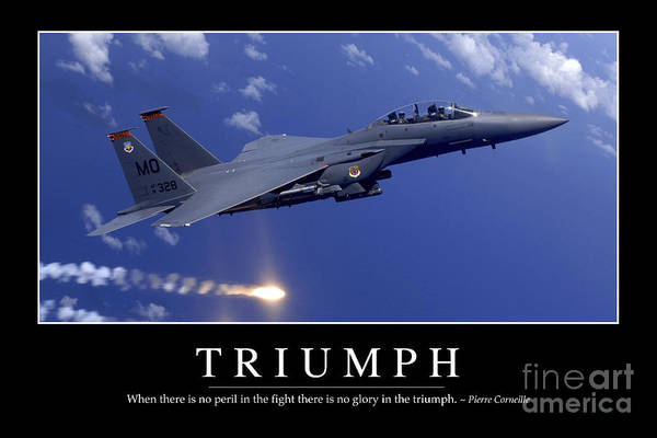 Photograph - Triumph Inspirational Quote by Stocktrek Images