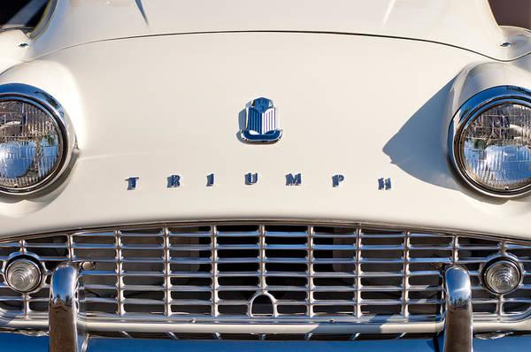 Photograph - Triumph Tr3 Grille Emblem by Jill Reger