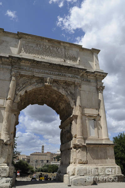 Photograph - Triumphal Arch In Roman Forum by Brenda Kean