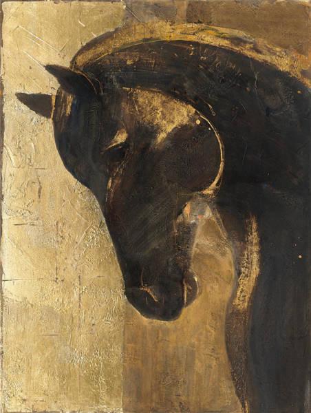 Grow Painting - Trojan Horse II Gold by Albena Hristova