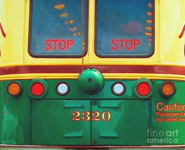 Photograph - Trolley Car - Digital Art by Robyn King