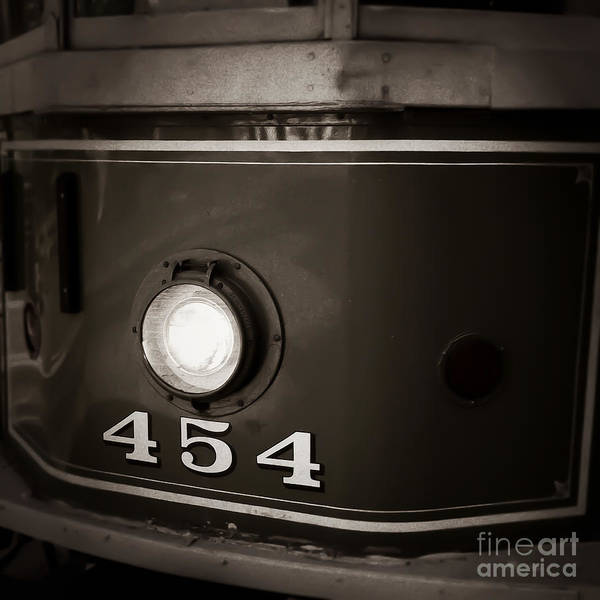 Photograph - Trolley No 454 Memphis Tennessee by T Lowry Wilson