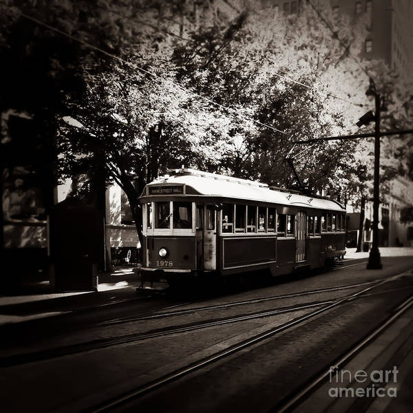 Photograph - Trolley On Main Memphis Tennessee by T Lowry Wilson