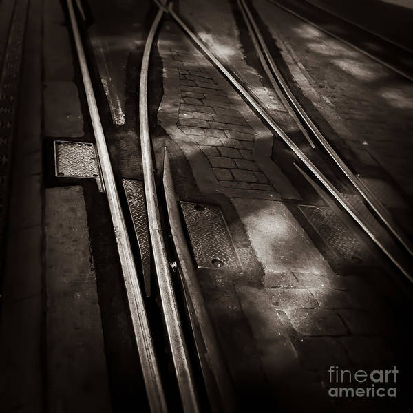 Photograph - Trolley Tracks Memphis Tennessee by T Lowry Wilson