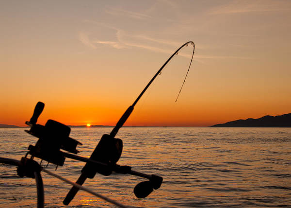Angling Photograph - Trolling Sunset by James Wheeler