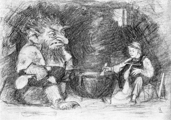 Folklore Drawing - Trolls May Be Fierce, But They're by Mary Evans Picture Library