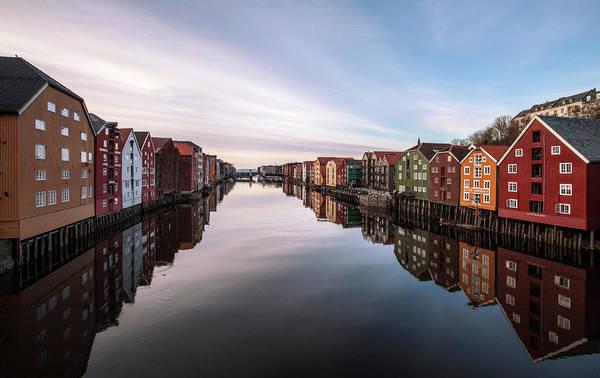 Colorful Photograph - Trondheim, Norway by Par Soderman