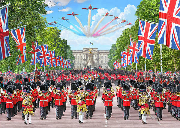 Mall Painting - Trooping The Colour - Colonel's Review by MGL Meiklejohn Graphics Licensing