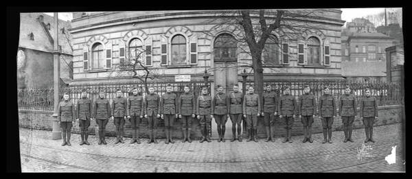 Platoon Wall Art - Photograph - Troops In Front Of Hdqrs. 3rd Corps by Fred Schutz Collection