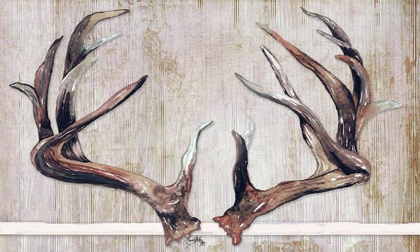 Antlers Digital Art - Trophy Antlers by Elizabeth Medley