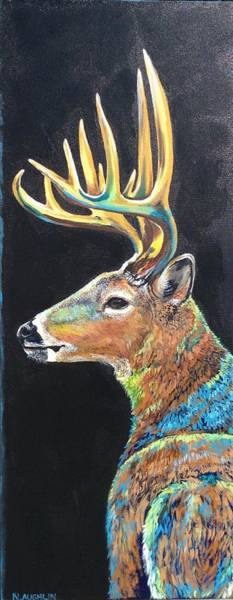 Painting - Trophy Buck by Kathy Laughlin