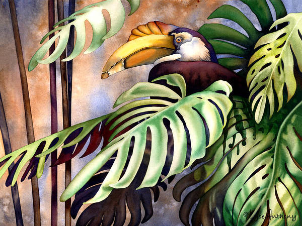 Wall Art - Painting - Tropic View by Lyse Anthony