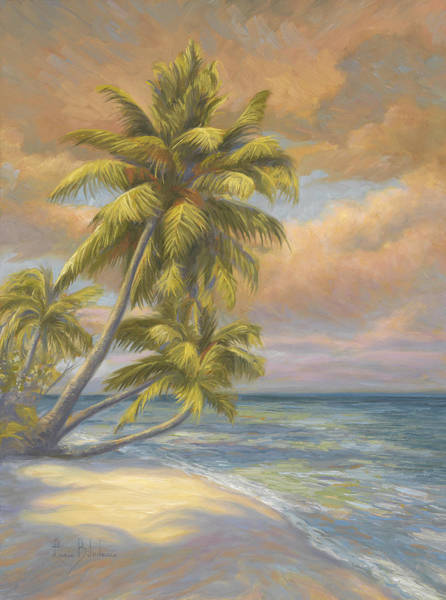 Wall Art - Painting - Tropical Beach by Lucie Bilodeau