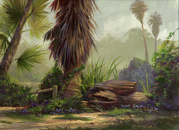 California Landscape Painting - Tropical Blend by Michael Humphries