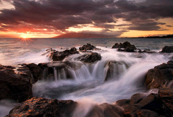 Maui Sunset Photograph - Tropical Cauldron by Mike  Dawson