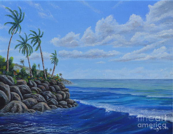 Painting - Tropical Day by Mary Scott