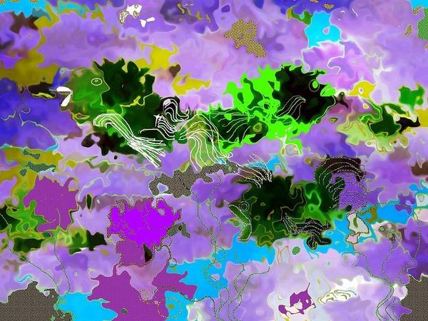 Reef Diving Digital Art - Tropical Fish Abstraction by Christine Mulgrew