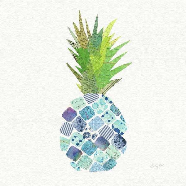 Fruit Wall Art - Painting - Tropical Fun Pineapple II by Courtney Prahl