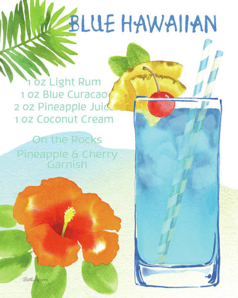 Hibiscus Flower Painting - Tropical Getaway I by Beth Grove