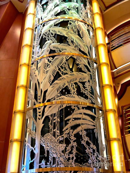 Princess Cruise Lines Photograph - Tropical Glass Elevator by Phyllis Kaltenbach