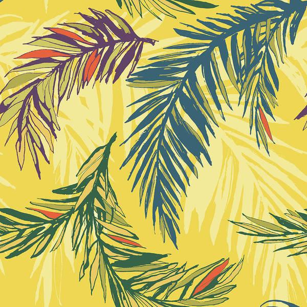 Big Island Digital Art - Tropical Jungle Floral Seamless Pattern by Sv sunny