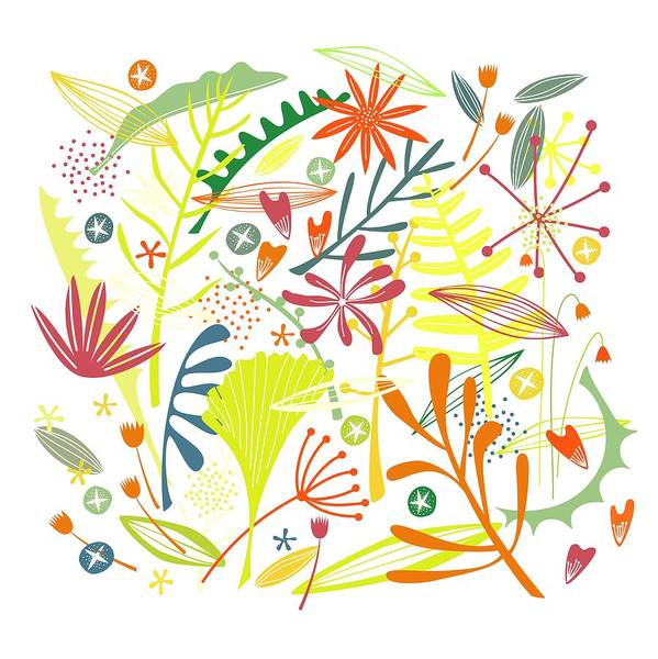 Tropical Plants Painting - Tropical by Nic Squirrell