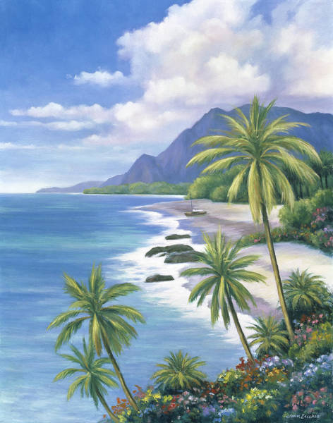 Oceanscape Painting - Tropical Paradise 2 by John Zaccheo