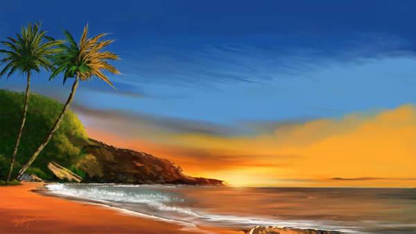 Wall Art - Digital Art - Tropical Paradise by Anthony Fishburne