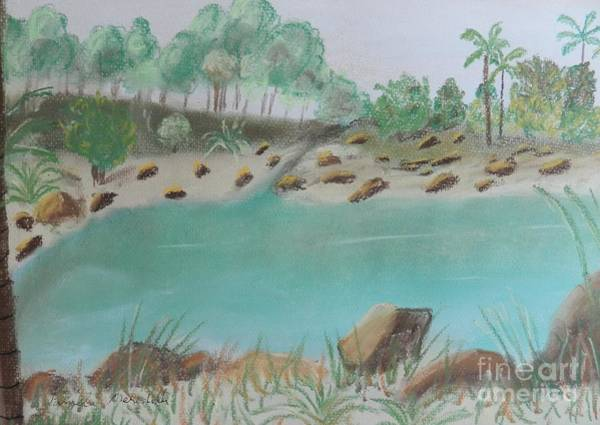 Wall Art - Painting - Tropical Pond On The Gold Coast by Pamela  Meredith