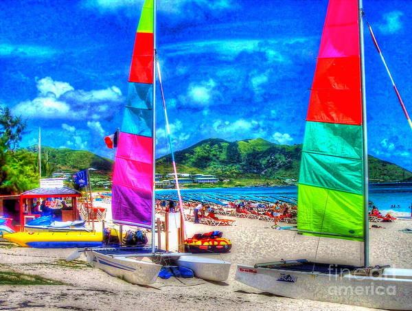 St. Maarten Photograph - Tropical Sails by Debbi Granruth