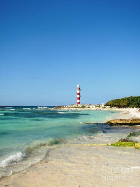 Photograph - Tropical Seascape With Lighthouse by Cristina Stefan