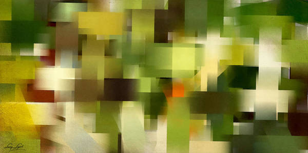 Shades Of Green Painting - Tropical Shades - Green Abstract Art by Lourry Legarde
