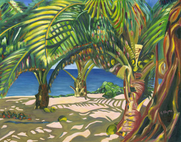 Painting - Tropical Shadows by Artimis Alcyone