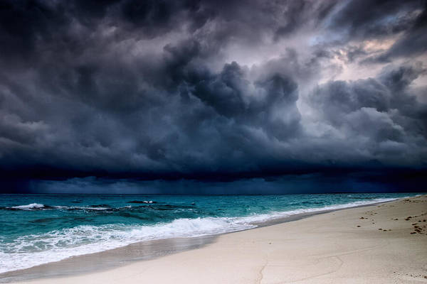 Caribbean Photograph - Tropical Storm Over The Caribbean Sea by Stevegeer