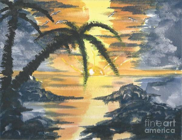 Tropical Sun Art Print
