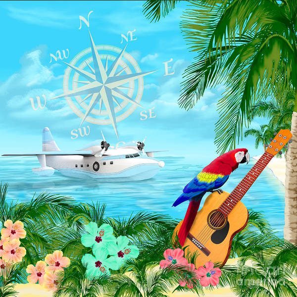 Bahamas Digital Art - Tropical Travels by Chris MacDonald