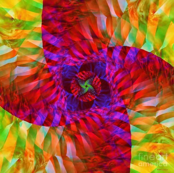 Palm Frond Digital Art - Tropical Twist by Elizabeth McTaggart