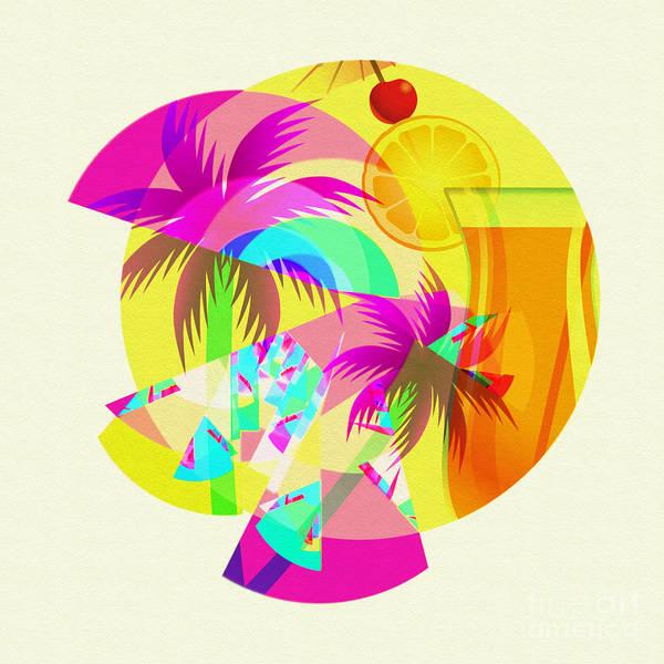 Bahamas Digital Art - Tropical Vacation Abstract by Olga Hamilton