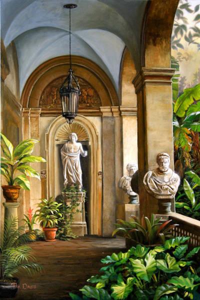 Baluster Wall Art - Painting - Tropical Veranda by Tim Davis