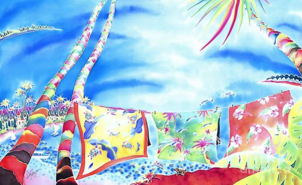 Painting - Tropical Wind by Hisayo Ohta