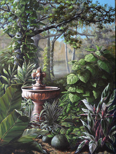 Painting - Florida Tropical Garden by Joan Garcia