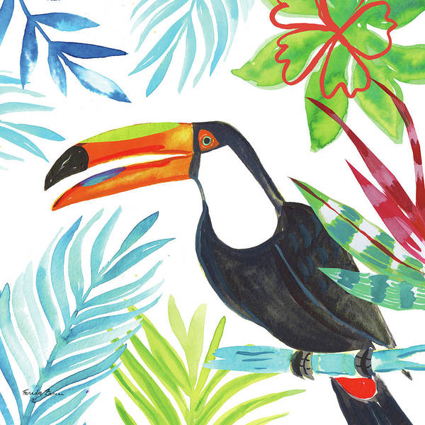 Bird Of Paradise Painting - Tropicana II by Farida Zaman
