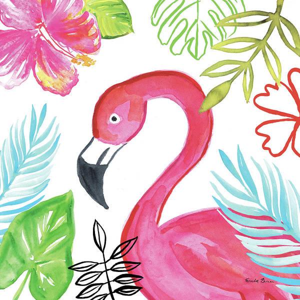 Hibiscus Flower Painting - Tropicana Iv by Farida Zaman