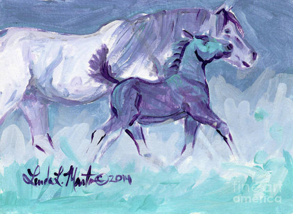 Painting - Trot by Linda L Martin